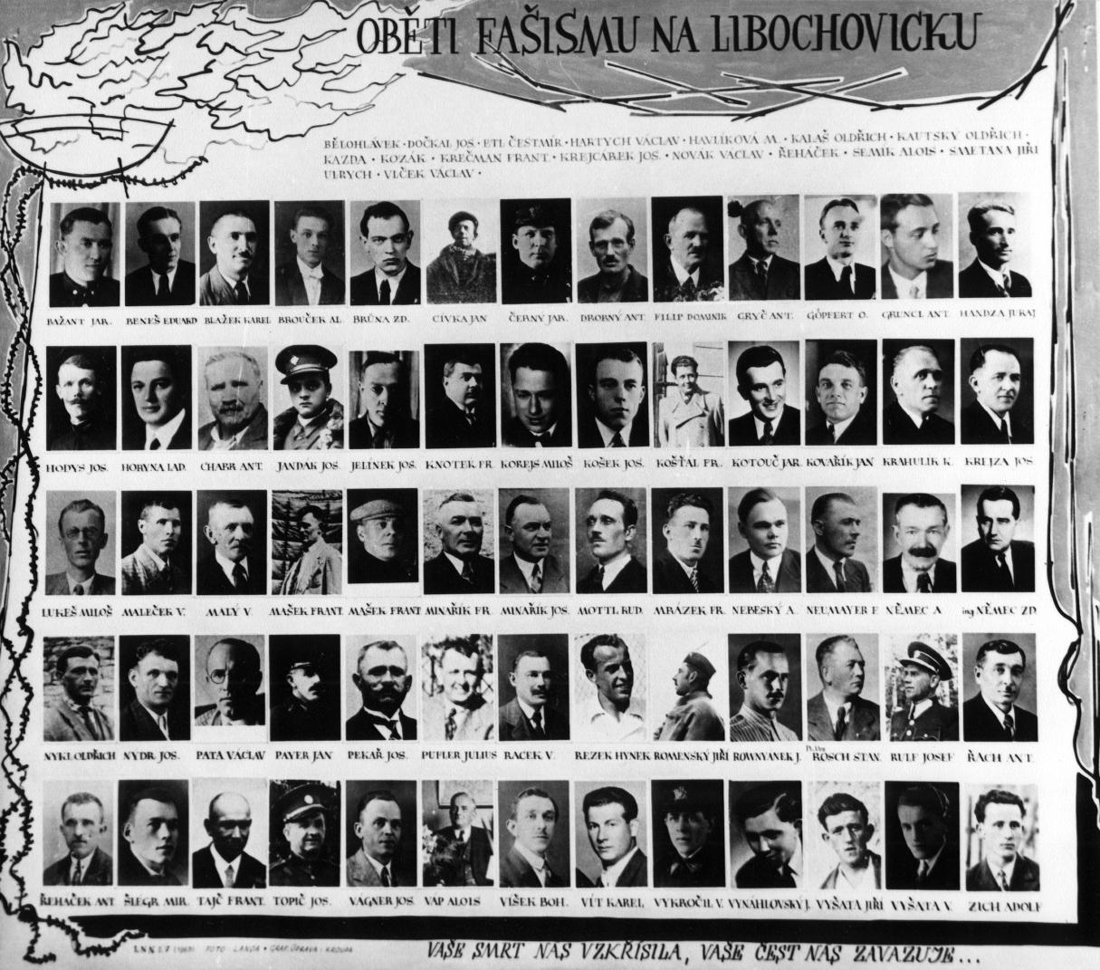 Tablo popravených v 1942